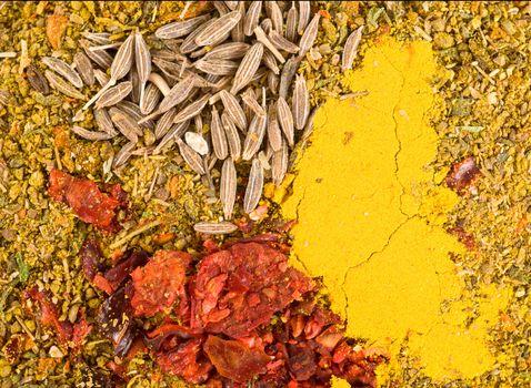 Zira seeds and curry