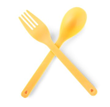 Disposable cutlery isolated