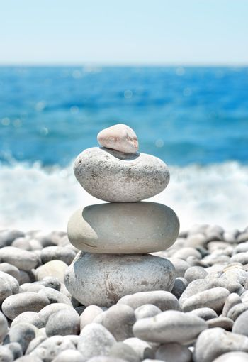 Stack pebbles