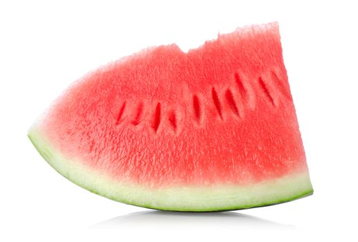 Juicy piece of watermelon isolated