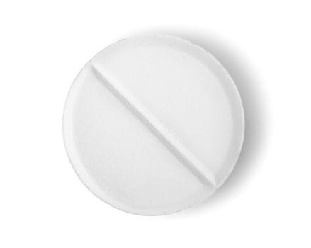 Tablet aspirin isolated Path