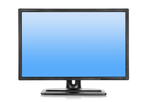 Liquid-crystal display on a white background