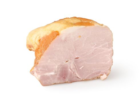 Sliced bacon isolated