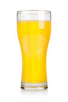 Orange juice. Clipping path