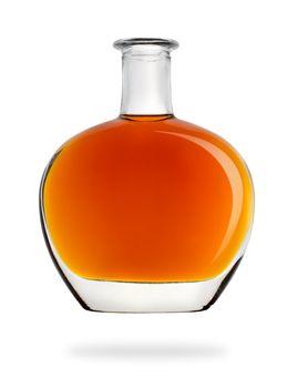 Bottle of cognac isolated