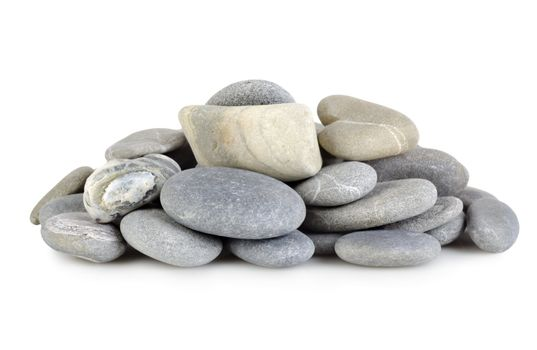 Heap a gray stones