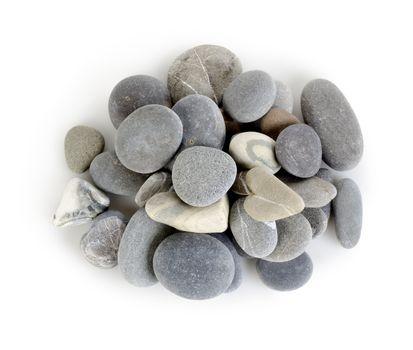 Heap a gray stones isolated