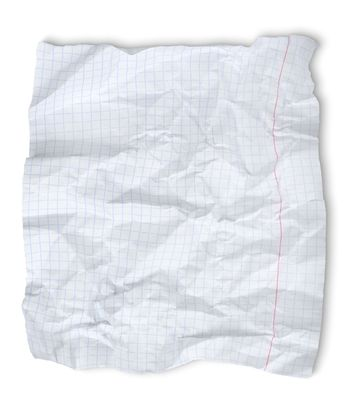Crushed sheet of paper