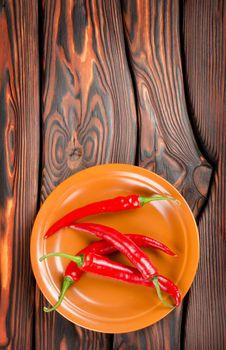 Pepper in a plate