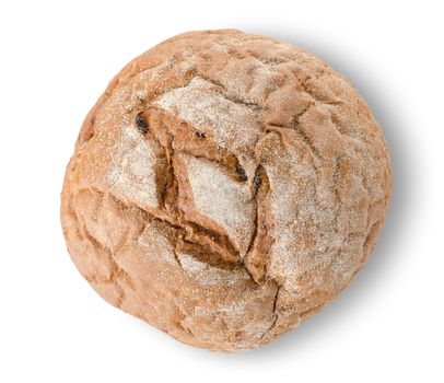 Round black bread