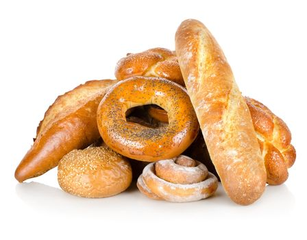 Collection of different breads