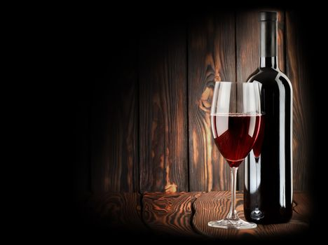 Red wine with a wineglass