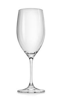 Empty wineglass