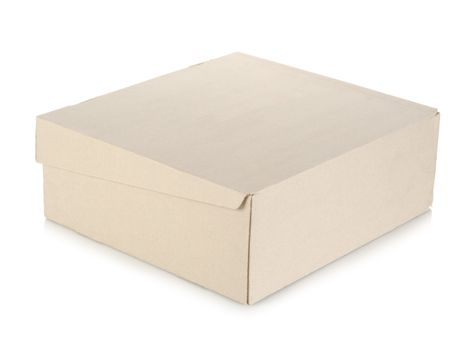 Box isolated on a white
