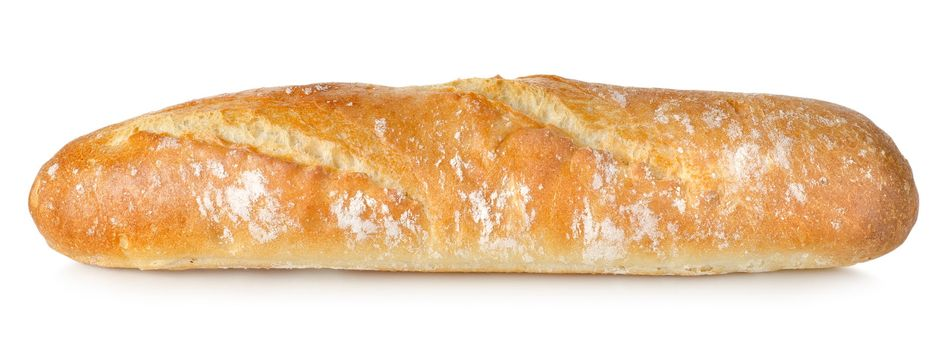 Fresh long loaf isolated