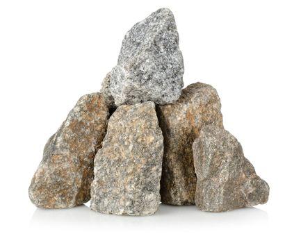 Heap gray stones