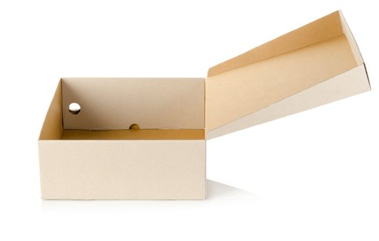 Cardboard packaging isolated