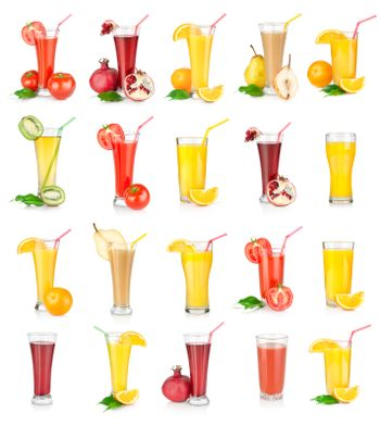 Collage of juices