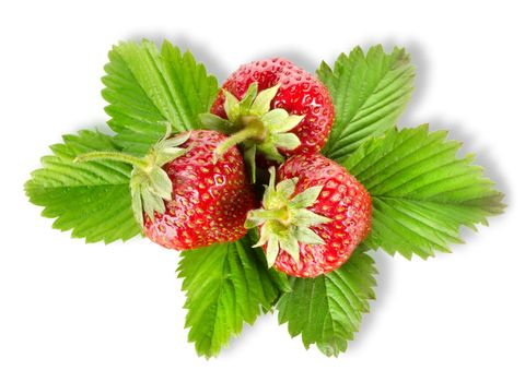 Heap strawberry isolated
