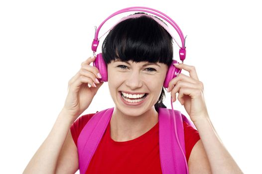 Trendy music lover college student