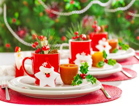 Christmas dinner decoration