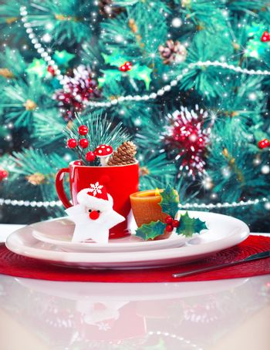 Christmas eve table decoration