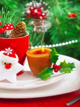 Romantic Christmastime dinner