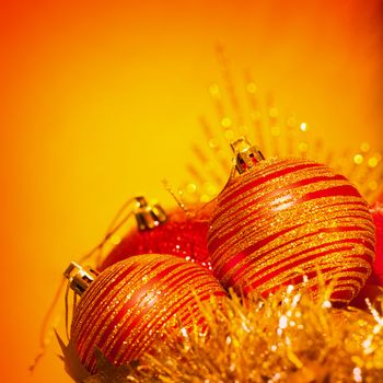Christmas bubbles border