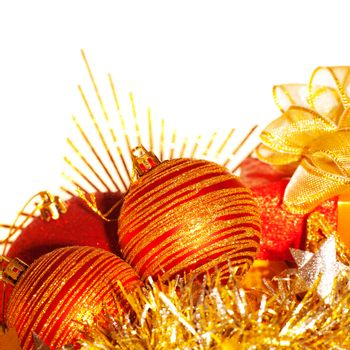 Christmas tree balls border