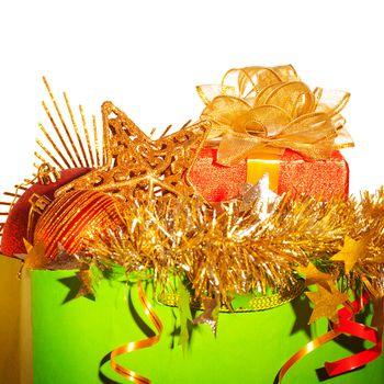 Paper bag with Christmas stuff