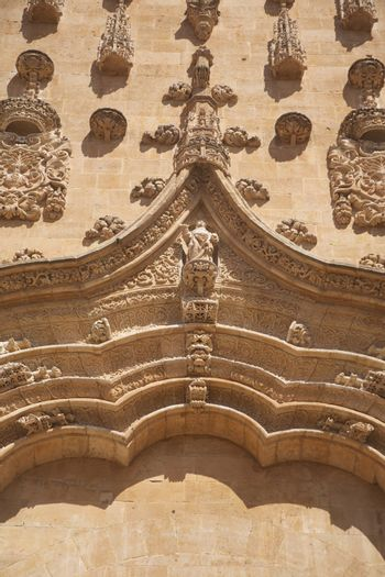 carved facade of Salamanca cathedral
