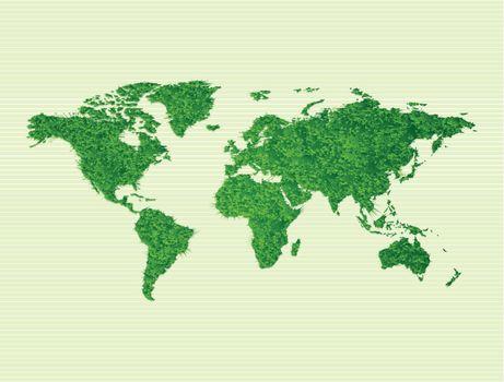 Environmental grass on world map