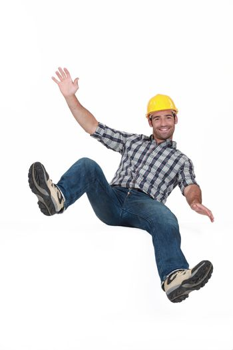 bouncing young craftsman