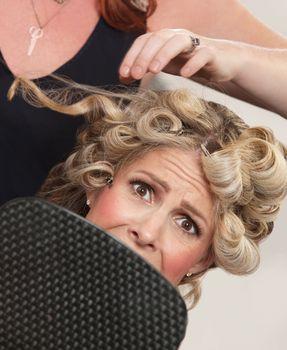 Frightened in Hair Salon
