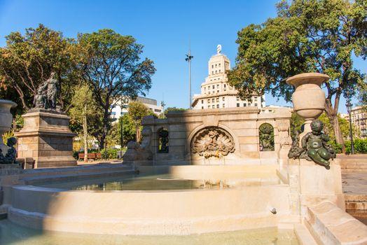 Fountain in Plaza Catalunya