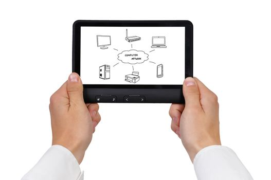 touchpad in hands