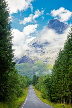 Scenic mountain road