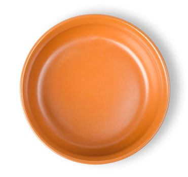 Brown plate isolated