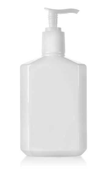 White container with spray