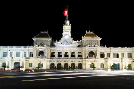 The city hall of Ho chi minh Vietnam