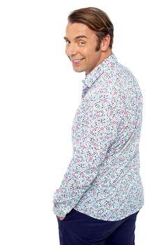 Handsome man in trendy casuals