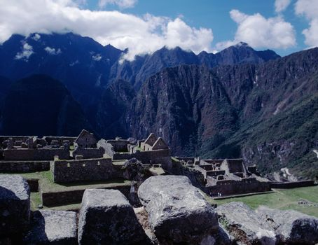 Machu Picchu and Andes Mountains