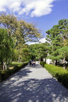 Pathway in the garden of nijo castle
