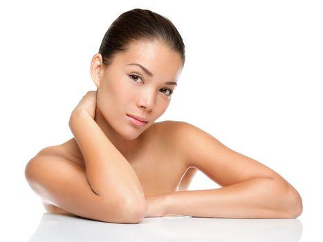 beauty face skin care woman