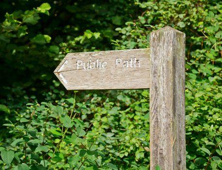 Public Path signpost