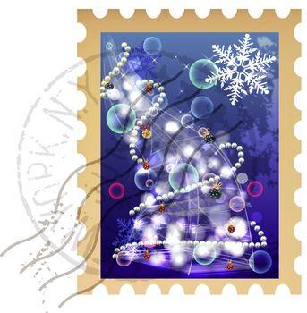 clip art christmas stamp