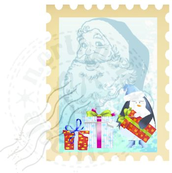 holiday postage stamp clip art