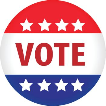 illustrated image of a vote button