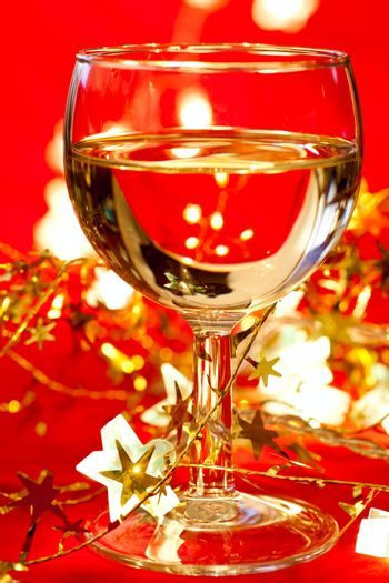 Wineglass with decoration