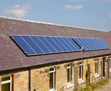Roof solar modules